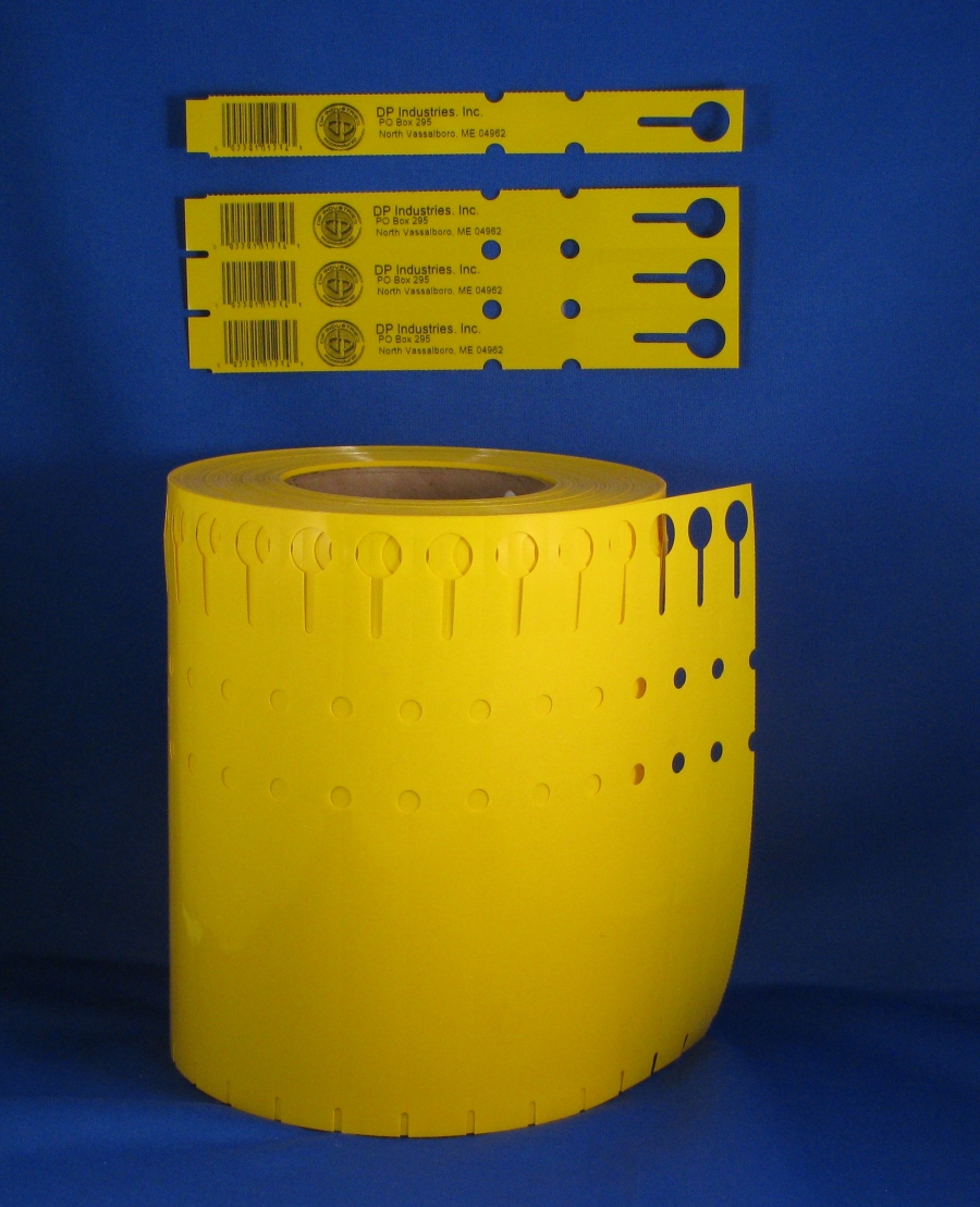 7 x 3 4 wrap around yellow tree tag. Black Bedroom Furniture Sets. Home Design Ideas