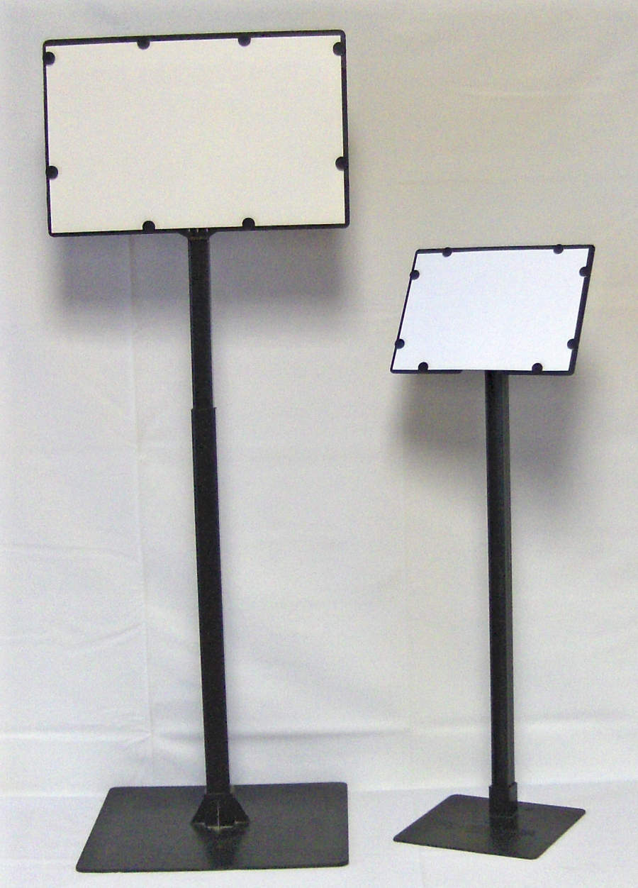 7 x11 angled sign holder 22 tall 10 pack